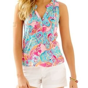 Lilly Pulitzer Peel and Eat Essie top flamingos